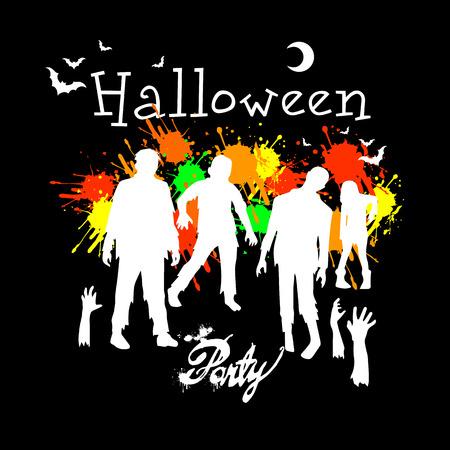 zombie, horror, illustration, halloween, dead, monster, scary, death, undead, vector