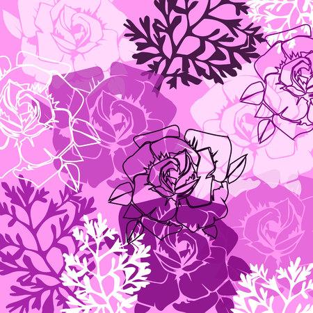 floral, flower, rose, spring, summer, background, botanical, garden, art, nature Vektorgrafik