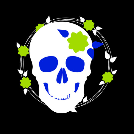 death, skull, vector, dead, skeleton, halloween, illustration, cartoon, horror, design