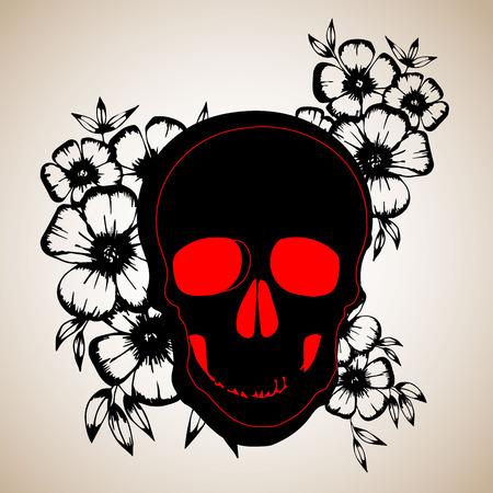 death, skull, vector, dead, skeleton, halloween, illustration, cartoon, horror, design