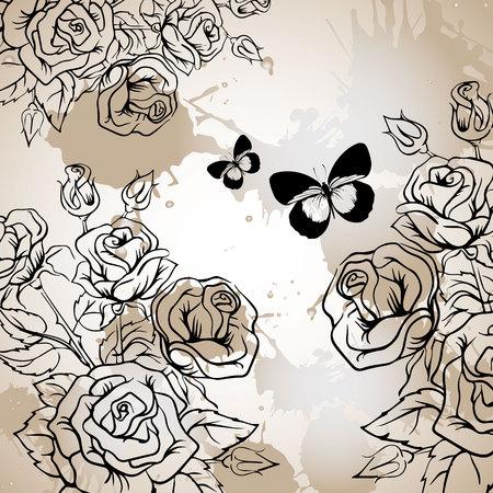 floral, flower, rose, spring, summer, background, botanical, garden, art, nature