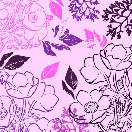 floral, flower, spring, summer, background, botanical, garden, art, nature, blossom Stok Fotoğraf - 110186631