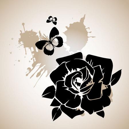 floral, flower, rose, spring, summer, background, botanical, garden, art, nature Stok Fotoğraf - 110186640