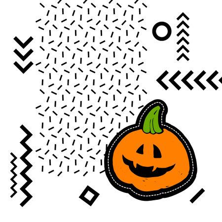 halloween, pumpkin, vector, autumn, holiday, orange, symbol, vegetable, illustration