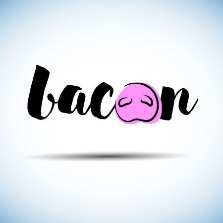 pig, pork, illustration, vector, bacon, animal, farm