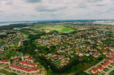 minsk: Nature in Belarus. View from helicopter, Minsk
