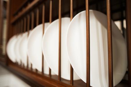 white kitchen interior Stock Photo