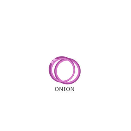 Onion. Red onion rings isolated over white background Vector illustration Standard-Bild - 119721829