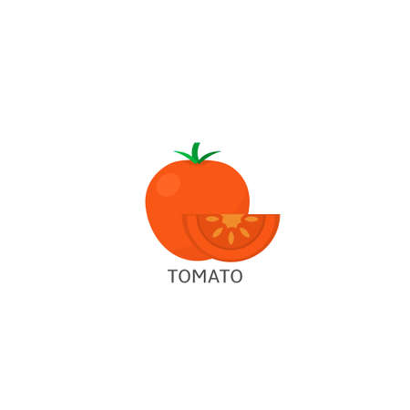 Tomato. Red Tomato isolated over white background Vector illustration