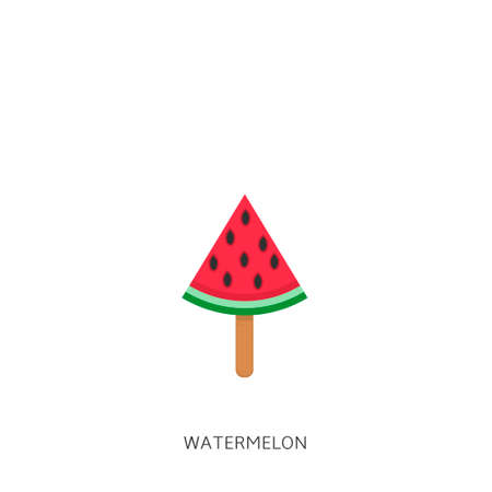Watermelon. Watermelon icon isolated, Summer time concept Vector illustration