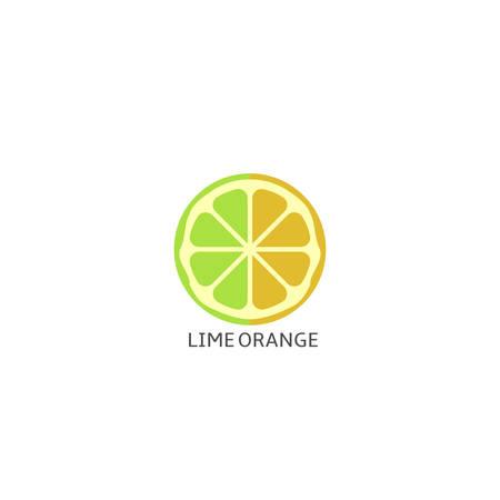 Lime orange fruits icon isolated over white background Vector illustration Illustration