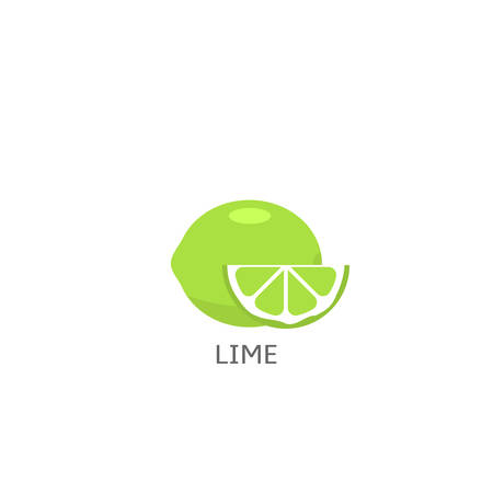 Lime fruit icon isolated over white background Vector illustration