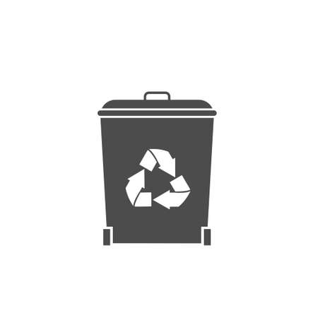 Recycle concept. Recycling garbage bin icon, Vector illustration