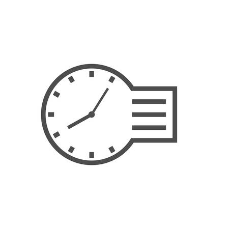 Time management vector icon isolated. Business concept, Vector icon