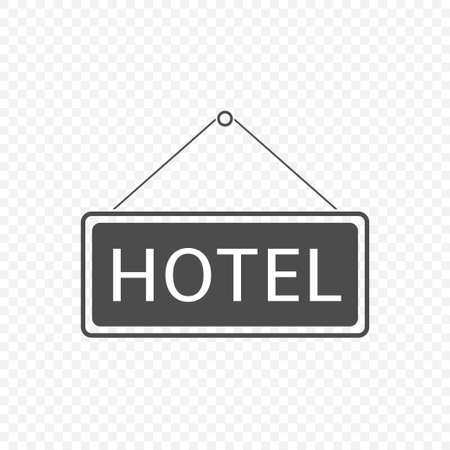 Hotel Hanging sign isolated. Travel tourism concept, Vector illustration