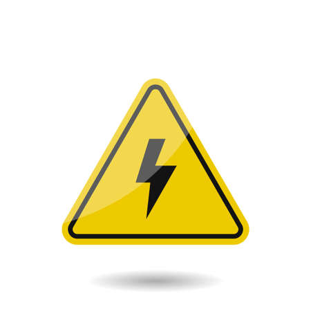 High voltage vector sign. Danger symbol, Vector illustration