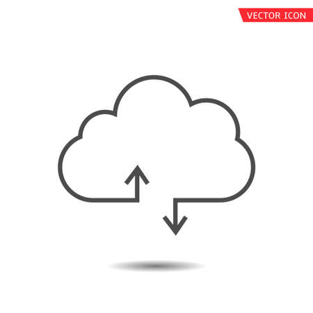 Cloud icon. Network technology, download and upload symbol Vector illustration
