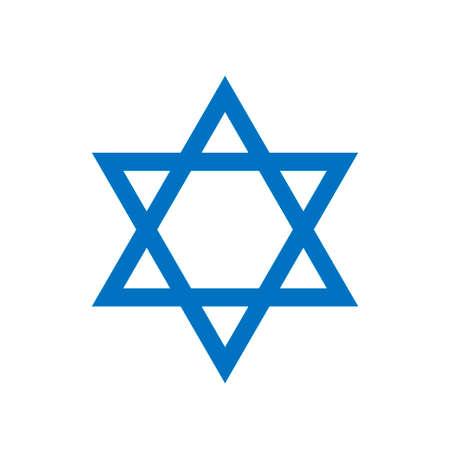 Blue Star of David icon. Generally recognized symbol of modern Jewish identity and Judaism, Israel symbol Illustration