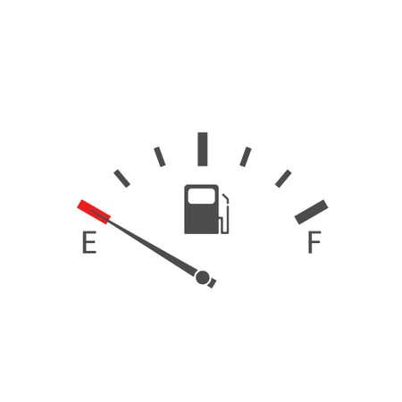 Empty Fuel tank indicator. Empty fuel meter, Vector