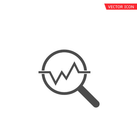 Financial analysis icon. Magnifier with analysis chart symbol, Finance Growth concept