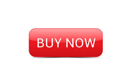 Buy now button. Red Buy now button template, Web design elements