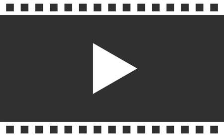 Black Video player interface for web and mobile apps Иллюстрация