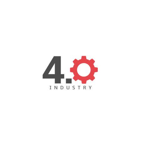 4.0 industry icon. Industrial revolution sign Vector illustration