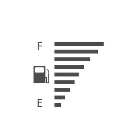Fuel tank indicator. Full fuel meter, Vector
