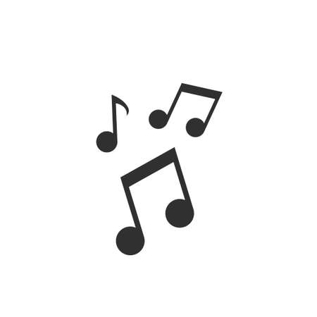 Music notes icon. Sound and melody sign, Vector illustration