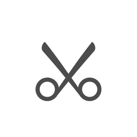 Scissors icon. Barber shop sign symbol, Vector illustration