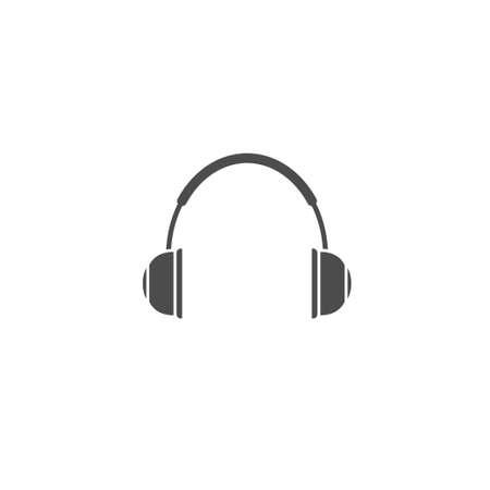 Headphones vector icon. DJ symbol, Vector illustration Illusztráció