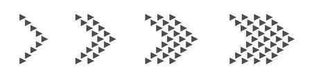 Arrow icon set. Arrows, direction cursor click elements Pointer signs Vector illustration Çizim