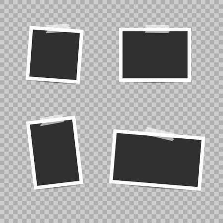 Blank photo frames. Empty blank photo frame set with scotch tapes