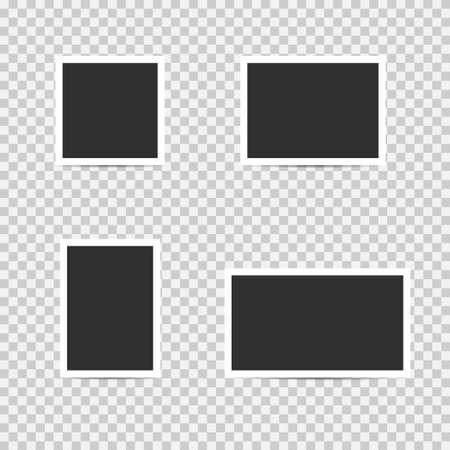 Blank photo frames. Empty blank photo frame set, Vector illustration Reklamní fotografie - 131692057