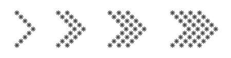 Arrow snowflakes icon set. Arrows, direction cursor click elements Pointer signs Vector illustration Çizim