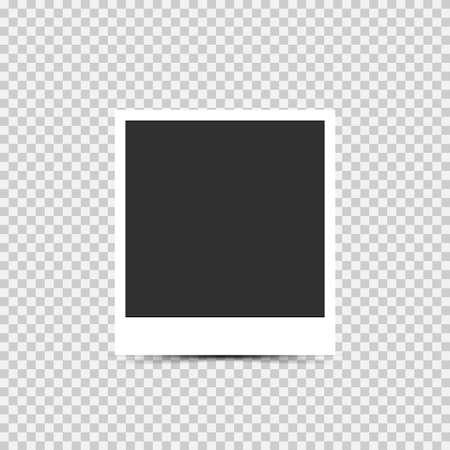 Blank photo frame. Empty blank photo frame, Vector illustration Reklamní fotografie - 131495922