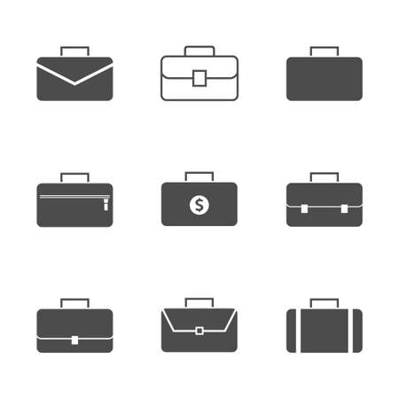 Business case icon. Simple bag sign, Vector illustration
