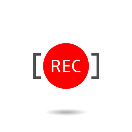 Rec icon. Recording icon template for radio or TV channel