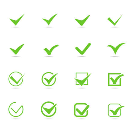 Set of Checkmark Icon. Checkmarks with checkbox, Election and voting concept symbol