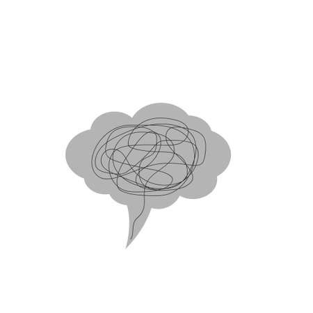 Depression. Depression concept icon, Confused thoughts Vector Illustration