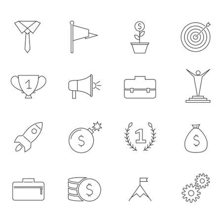 Icons for business, management, finance, strategy, planning analytics banking communication social network