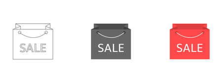 Shopping bag icon with SALE text. Vector illustration for your design