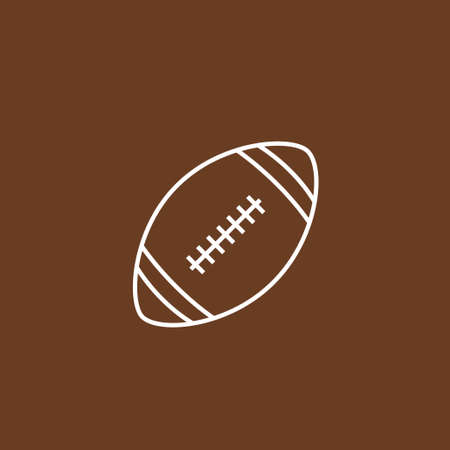 American football vector icon, sports ball symbol on brown background. Flat vector illustration for web site or mobile app