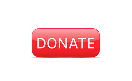 Voluntary and donation concept. Red Donate button icon isolated Ilustracja