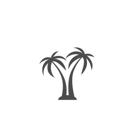 Hand drawn tropical trees. Vector isolated tropic palms for summer design.