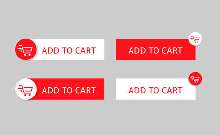 Add to cart button set for web and apps