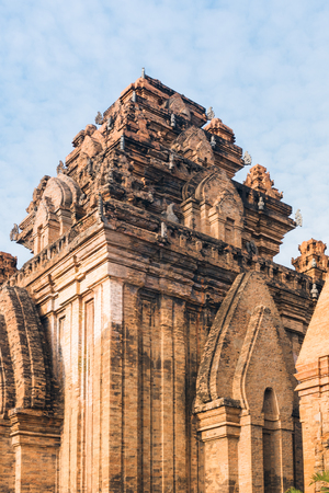 Po Ngar Cham Towers in Nha Trang. Great old brick temple complex PoNagar, Vietnam Stock Photo