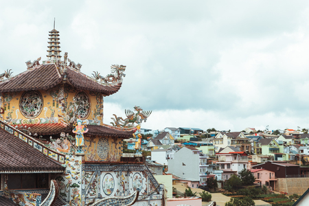 dalat: Glass Pagoda located in town of Trai Mat, just outside Dalat, Lam Dong Province, Vietnam, may 2017 Stock Photo