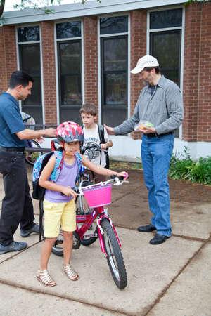 May 9, 2012 - Arlington, Virginia, USA - National Bike to School Day, Key School Escuela Key Elementary  Credit Image  © Dasha Rosato  Stock Photo - 13651626