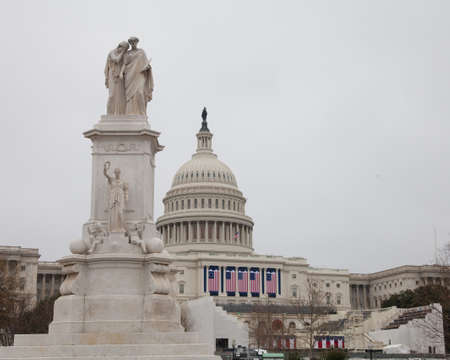 United States Capitol Building one day after the inauguration of the 45th US President, Donald J. Trump.